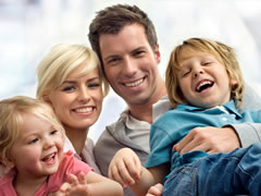 New York family with life insurance